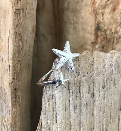 Sterling Silver Star Fish Ring