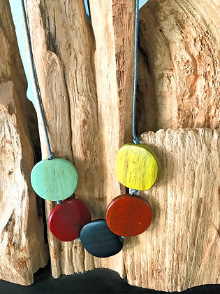 Winter Shades Disk Necklace