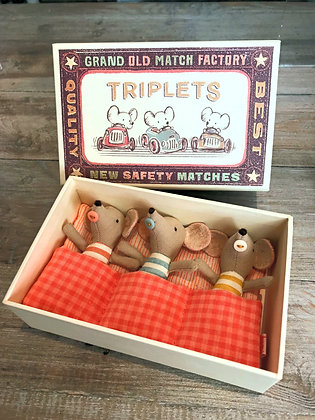 Triplet Mice In A Matchbox
