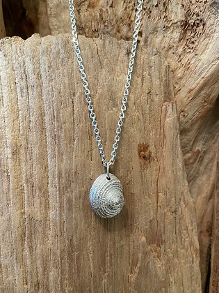 Spiral Shell Sterling Silver Necklace