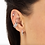 Thumbnail: Slim Sparkling Single Sterling Silver Ear Cuff