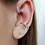 Thumbnail: Turquoise Trinity Set of 3 Sterling Silver Earrings