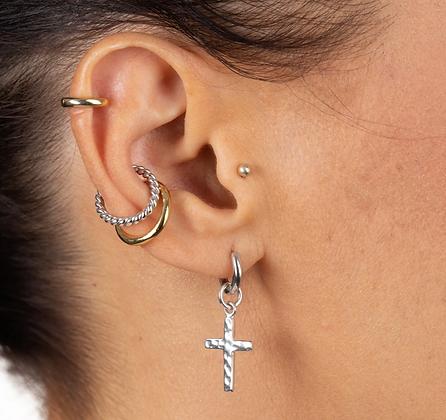 Twist Single Sterling Silver Ear Cuff