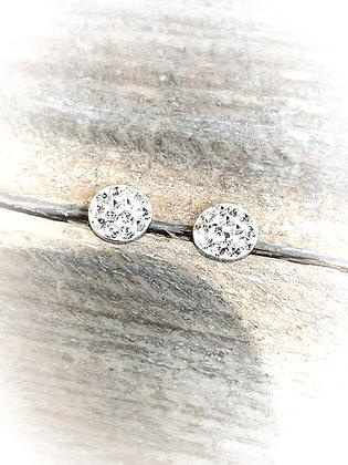 Twinkle Sterling Silver Disc Earrings