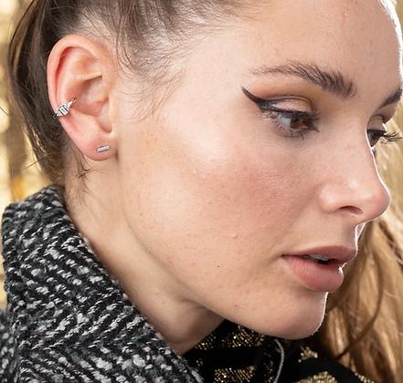 Audrey Sterling Silver Single Ear Cuff