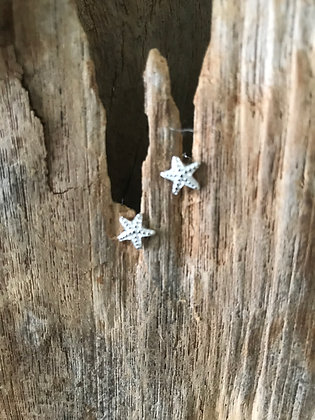 Sweet Sterling Silver Starfish Studs