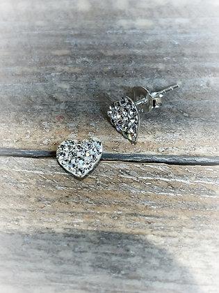 Silver Twinkle Hearts
