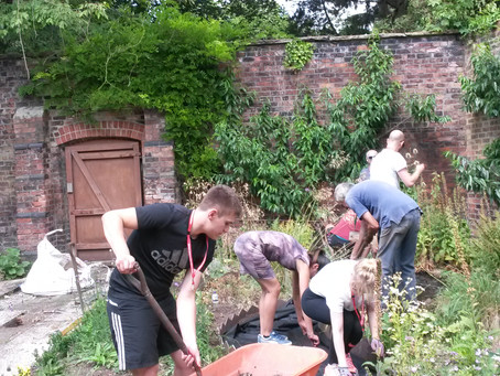 So grateful.  Volunteers in July getting to grips with the Herb Garden. More posts to follow.