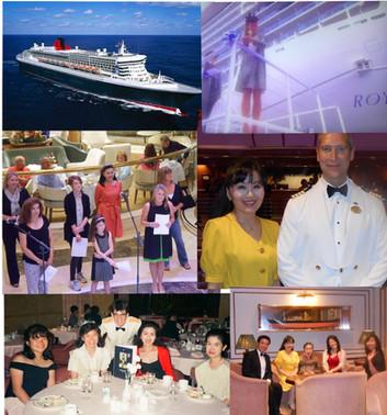 QUEEN ELIZQBETH II ROYAL PRINCESS 客船 DIAMOND PRINCESS
