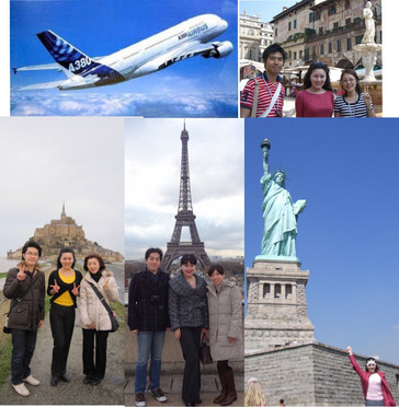 Honeymoon Le Mont Saint-Michel La Tour Eiffel in Paris The Statue of Liberty in New York City Verona in Italy