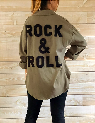 Kaki shirt rock & roll