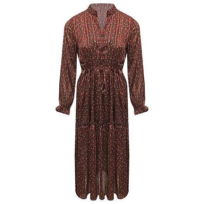 Foto jurk zebraprint oud rood