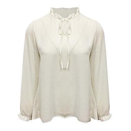 Witte blouse plissé achterkant