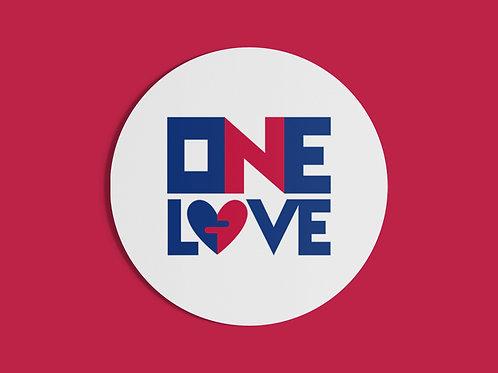 ONE LOVE - STICKER