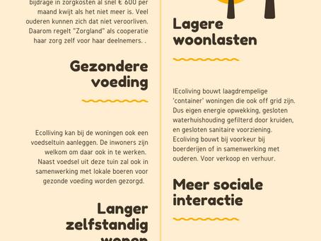 Ecoliving Nederland biedt minder bedeelde ouderen meer besteedbaar inkomen