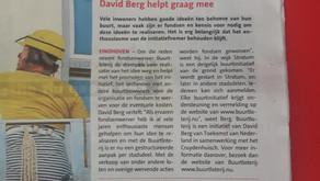 Artikel over de buurtloterij op voorpagina Groot Eindhoven