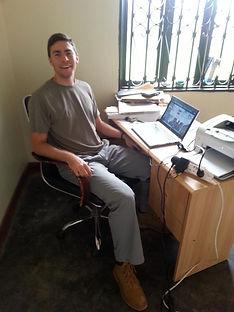 Charlie at work in Uganda