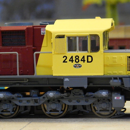 HOn3.5 Queensland Rail 2470 Class locomotive #2484D Wuiske Models