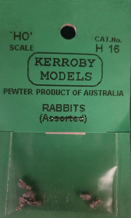 6 x Rabbits HO Kerroby Models KM-H16