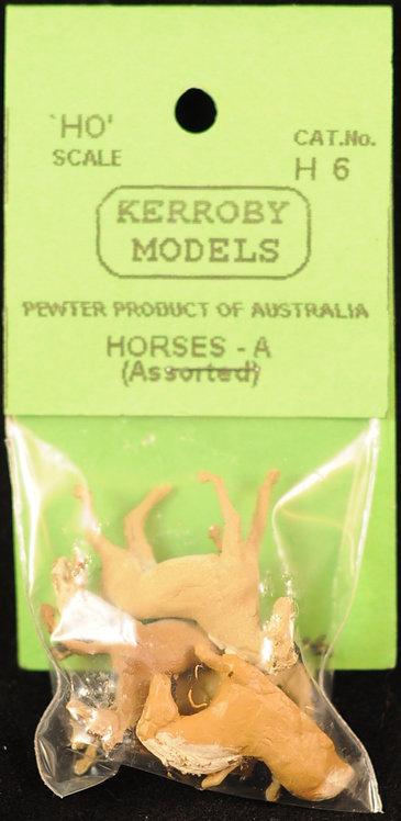 5 x Horses - A HO Kerroby Models KM-H6