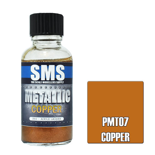 SMS Metallic Acrylic Lacquer Copper 30ml SMS-PMT07
