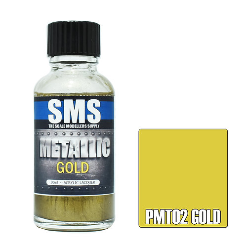 SMS Metallic Acrylic Lacquer Gold 30ml SMS-PMT02