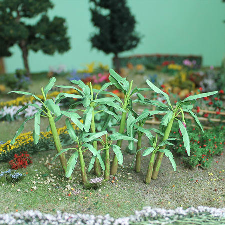 "Banana Trees 1-1/2"", Tall HO-scale, 4/pk MP Scenery"