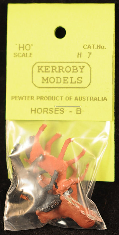 5 x Horses - B HO Kerroby Models KM-H7