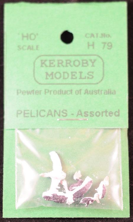 6 x Pelicans HO Kerroby Models KM-H79