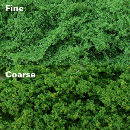 Light Green Clump Foliage - Fine, pack of 150 Sq. In. MP Scenery