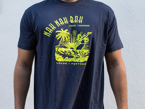 Men Lime & Berry Blue Aloha Tee