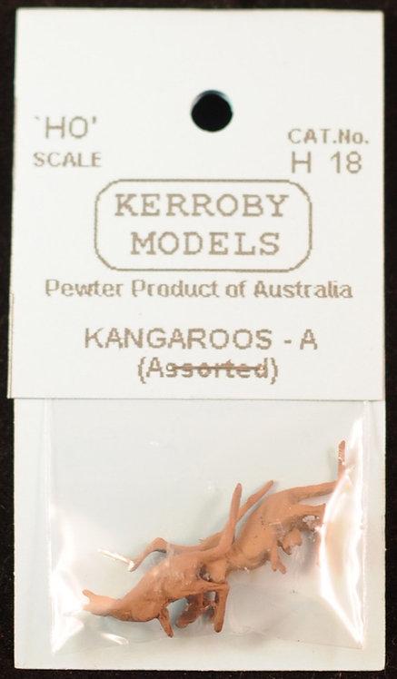 3 x Kangaroo Assorted -A HO Kerroby Models KM-H18