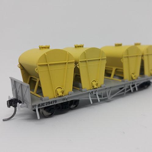 HOn3.5 Queensland Rail HJC Cement Wagon Set 3 Wuiske Models