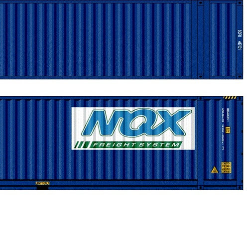 """2 x HO Scale 48"""" Containers NQX Southern Rail Models 48D16"""