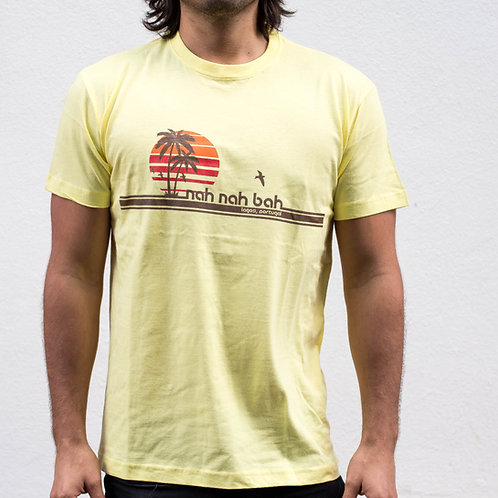 Men Mellow Yellow Palms Tee