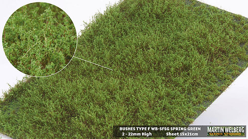Bushes type F Spring Green Martin Welberg
