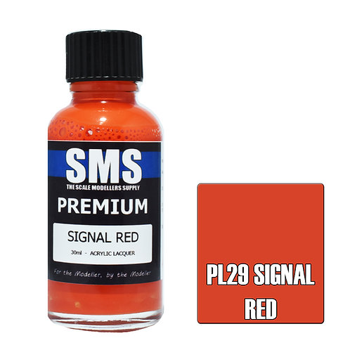 SMS Acrylic Lacquer Premium Signal Red 30ml SMS-PL29
