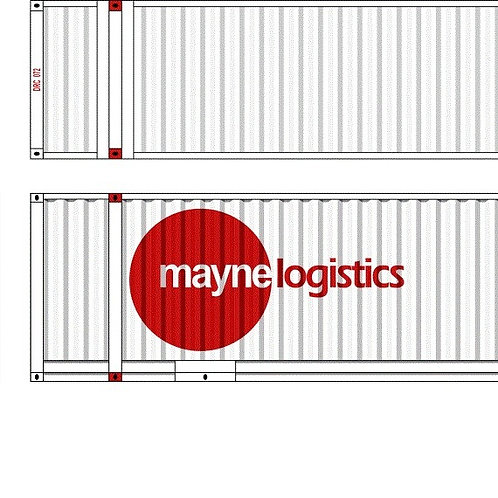"""2 x HO Scale 48"""" Containers Mayne Logistics Southern Rail Models 48D15"""