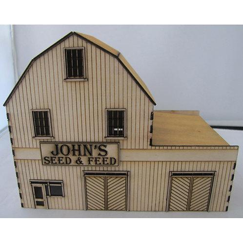 The John's Seed N Feed HO Scale Trackside Models. SM1042