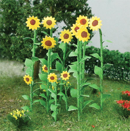 "Sunflowers 2"", Tall O-scale, 16/pk MP Scenery"