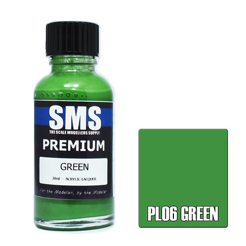 SMS Acrylic Lacquer Premium Green 30ml SMS-PL06