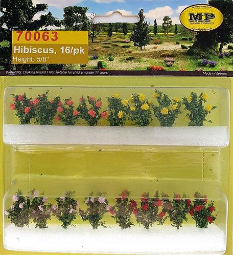 "Hibiscus 5/8"" Tall, HO-scale, 16pk"