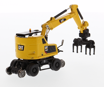 Cat 1:87 M323F Railroad Wheeled Excavator Safety Yellow Colour