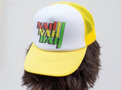 Nah Nah Yellow Mesh Rasta Surf Hat