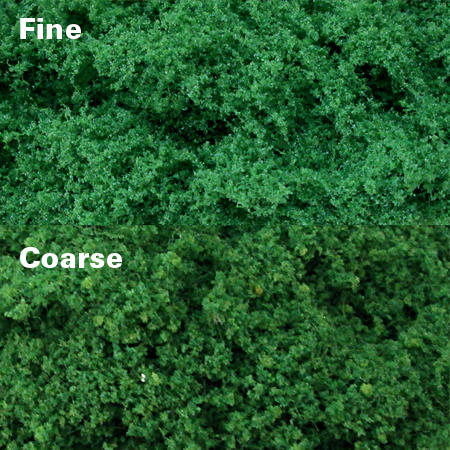 Medium Green Clump Foliage - Fine, pack of 150 Sq. In. MP Scenery