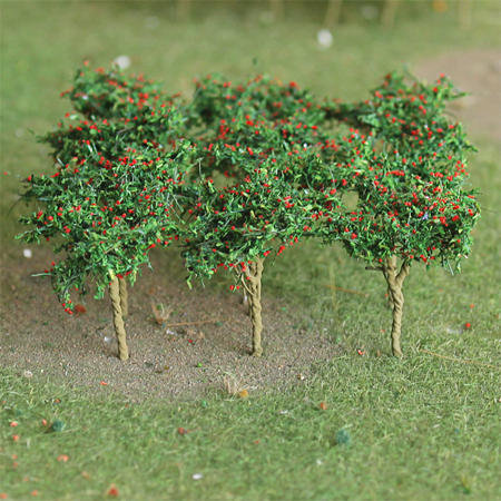 "Apple Saplings 1-3/8"", Tall HO-scale, 10/pk MP Scenery"