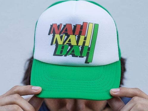 Nah Nah Lime Mesh Rasta Surf Hat