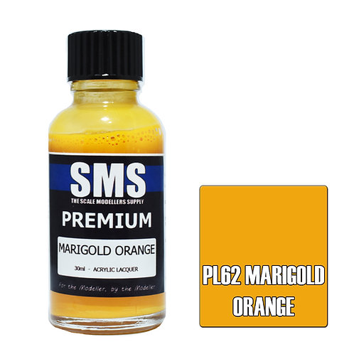 SMS Acrylic Lacquer Premium Marigold Orange 30ml SMS-PL62