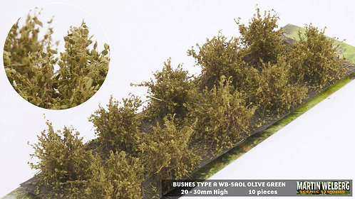 Bushes type A olive green Martin Welberg