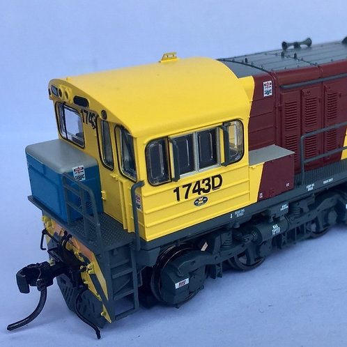 HO Queensland Rail 1720 Class locomotive #1743D Wuiske Models